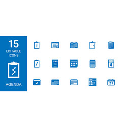 agenda icons vector image