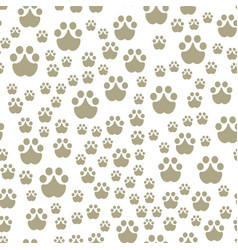 Animal footprints include seamless pattern mammals vector