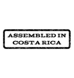 Assembled in costa rica watermark stamp vector