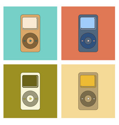 Assembly flat icon music player vector
