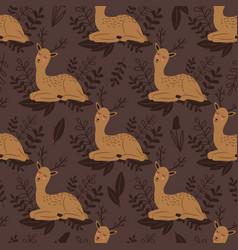 Baby deer seamless pattern cute deer vector
