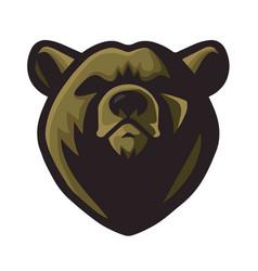 bear logo mascot design vector image
