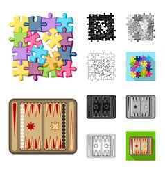 board game cartoonblackflatmonochromeoutline vector image