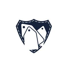 bundle shopping logo design template vector image