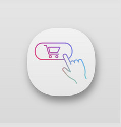buy button app icons set vector image
