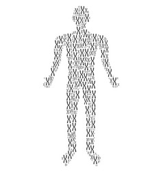 Chromosome person figure vector