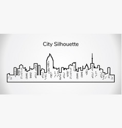 City silhouette city landscape on white vector