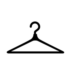 Clothes hook isolated icon vector