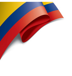colombia flag on a white vector image