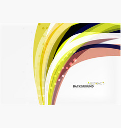 Colorful flowing wave abstract background vector