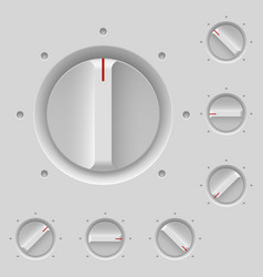 Control panel with switches on gray vector