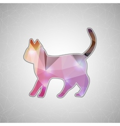 Creative concept cat icon isolated on vector