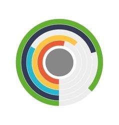 Data cake icon Infographic design graphic vector