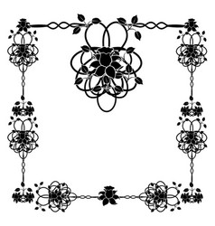 Design element frame flourishes vintage 1 vector