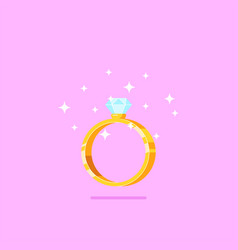 diamond engagement ring vector image
