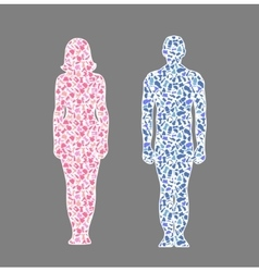 different hobman amd woman vector image