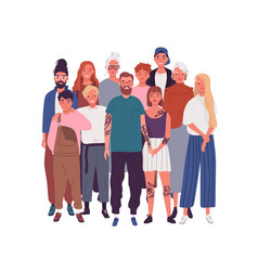 Diversity people in modern society crowd vector