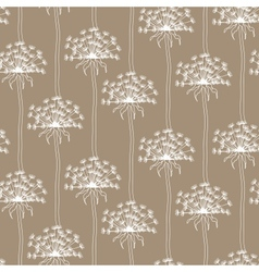 Dry dandelion flowers - abstract seamless pattern vector image