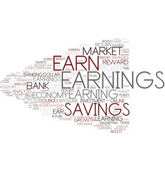 Earnings word cloud concept vector