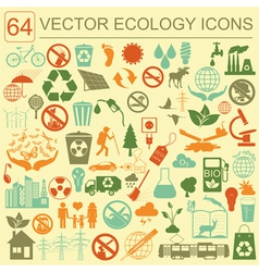 Environment ecology icon set Environmental risks vector image