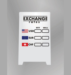 Exchange rates board vector