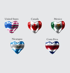 Flags of america countries the flags of united vector