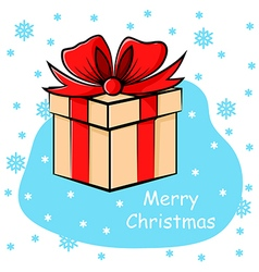 gift snow vector image
