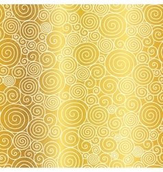Golden Abstract Swirls Seamless Pattern vector image