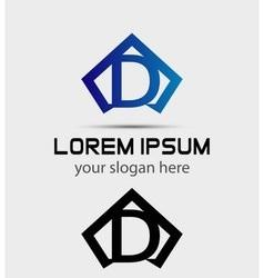 graphic alphabet symbol D letter vector image