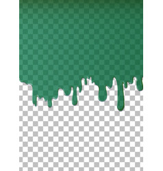 green water dripping background vector image