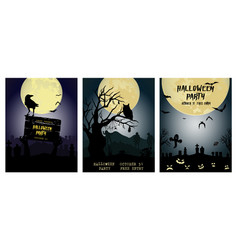 halloween backgrounds collection traditional vector image