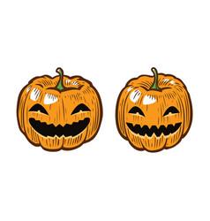 Halloween pumpkin cartoon symbol vector
