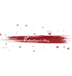 happy valentines day with watercolor splash and vector image