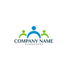 Health logo designs concept healthy people logo vector