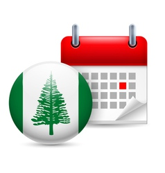Icon of National Day on Norfolk Island vector