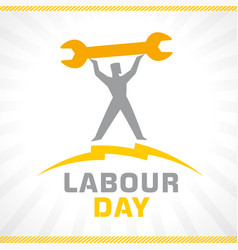 labor day workman on sunbeams vector image