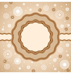 lace rosettes snowflakes vector image