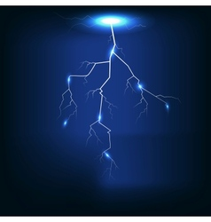 Lightning of dark blue background vector