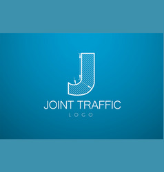 logo template letter j in the style vector image