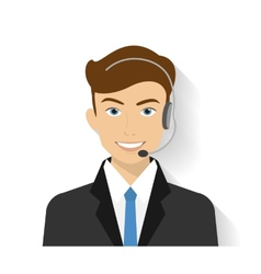 Male call centre operator vector image