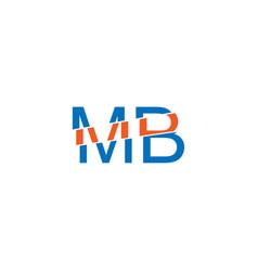 Mb slice letter icon design on white vector