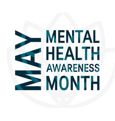 mental health awareness month flat style vector image