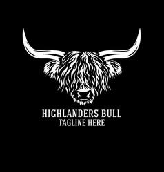 Modern highlanders bull logo vector