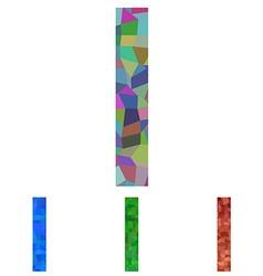 Mosaic font design - letter I vector