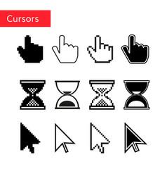 Mouse cursors set pixel cursors vector
