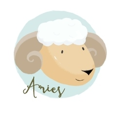 Nice aries horoscope sign vector image