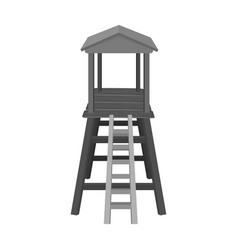observation tower for huntersafrican safari vector image