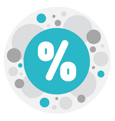 of trade symbol on percent vector image