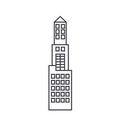 office tower thin line icon concept office tower vector image