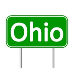 Ohio green road sign vector
